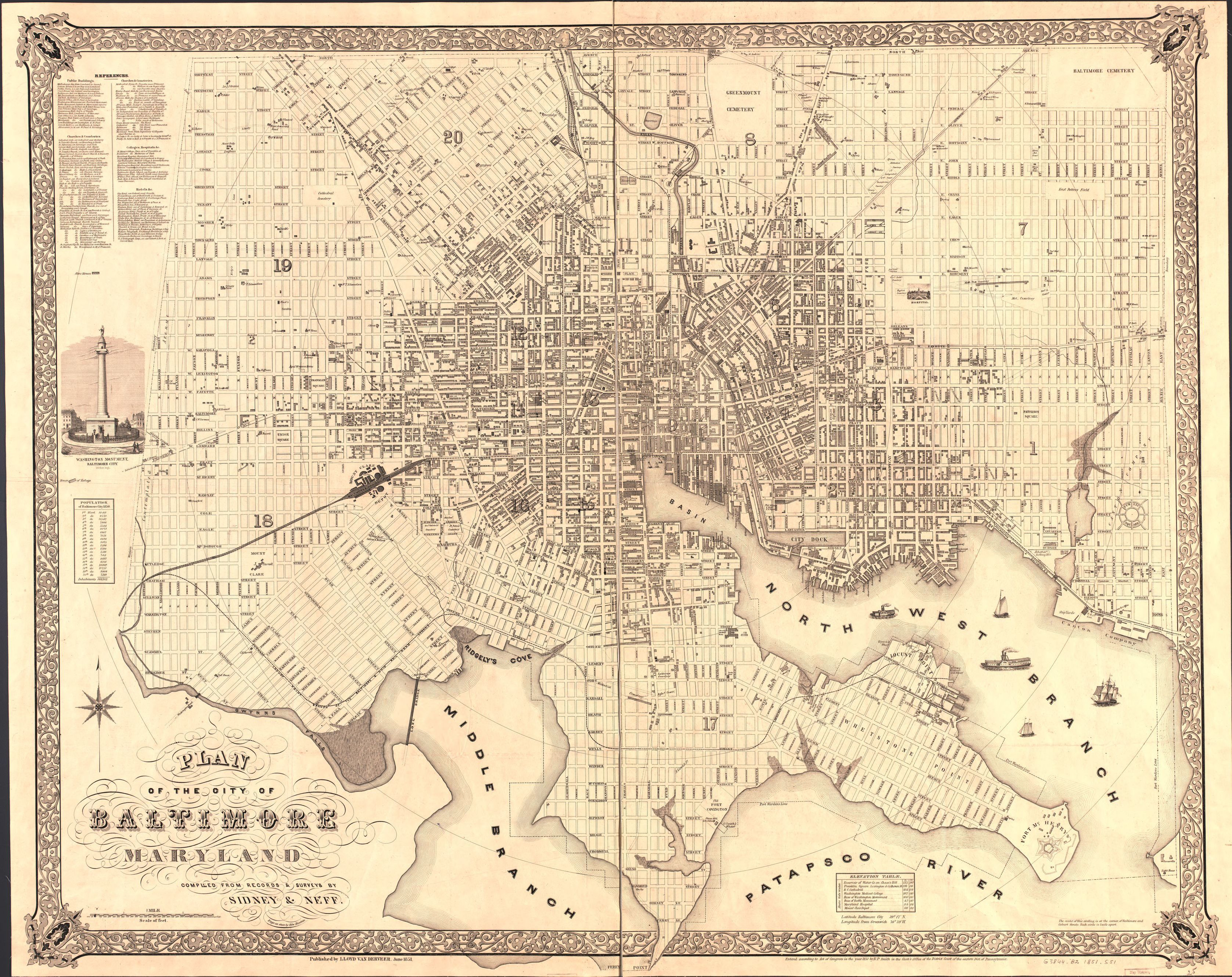 map 1800 to 1899 maryland baltimore library of congress