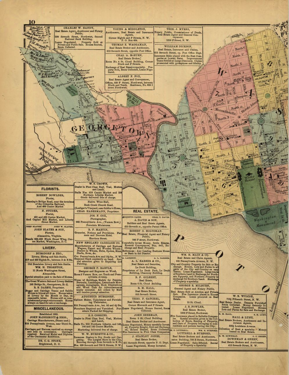 map cities and towns library of congress