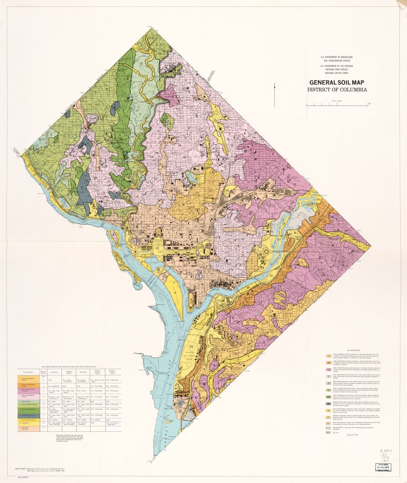 general soil map district of columbia library of congress
