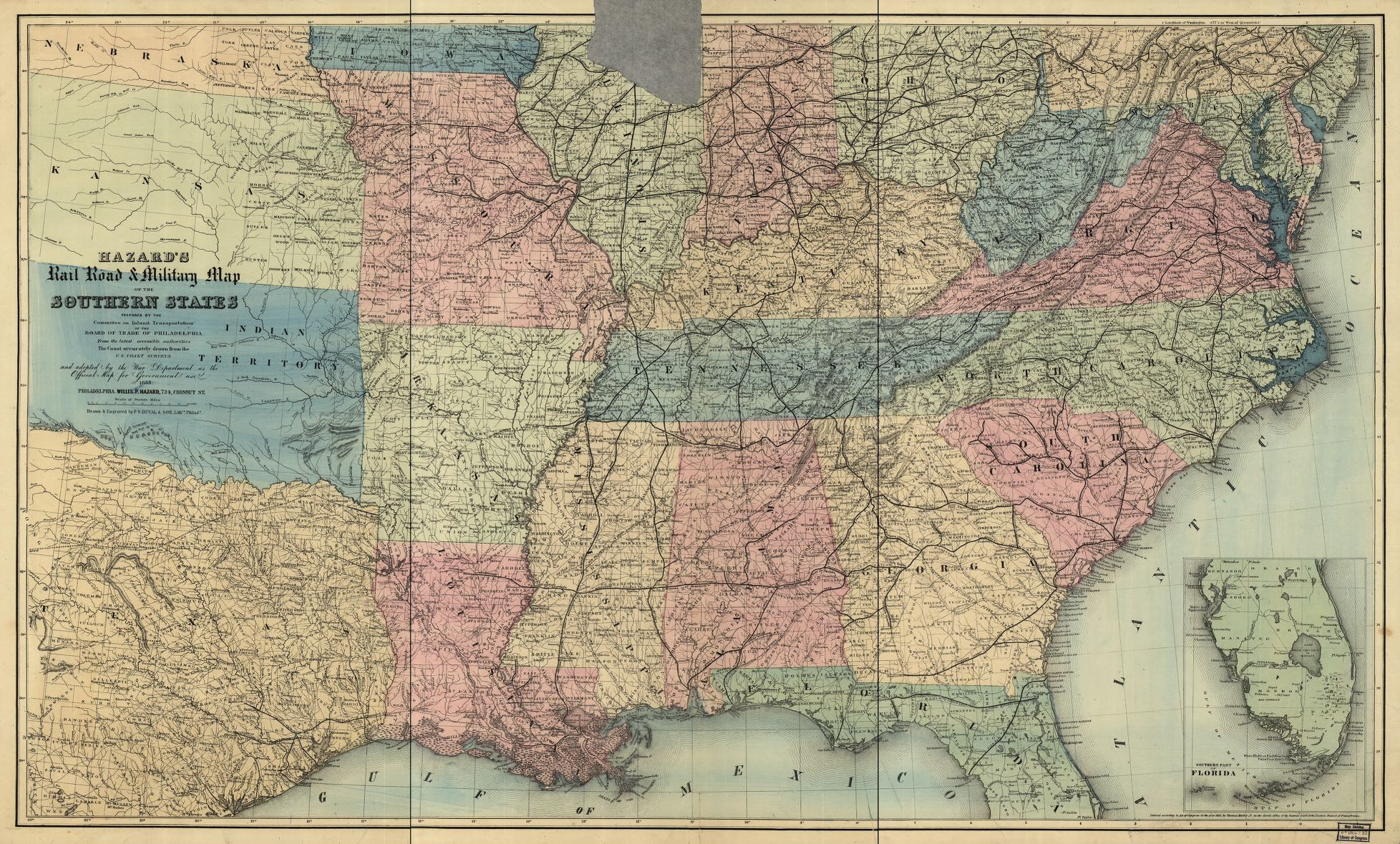 Hazards rail road military map of the southern states library map hazards rail road military map of the southern states gumiabroncs Choice Image