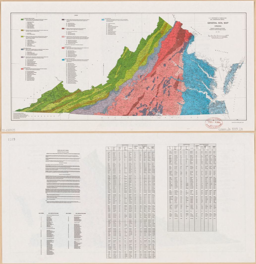 General Soil Map Virginia Library Of Congress
