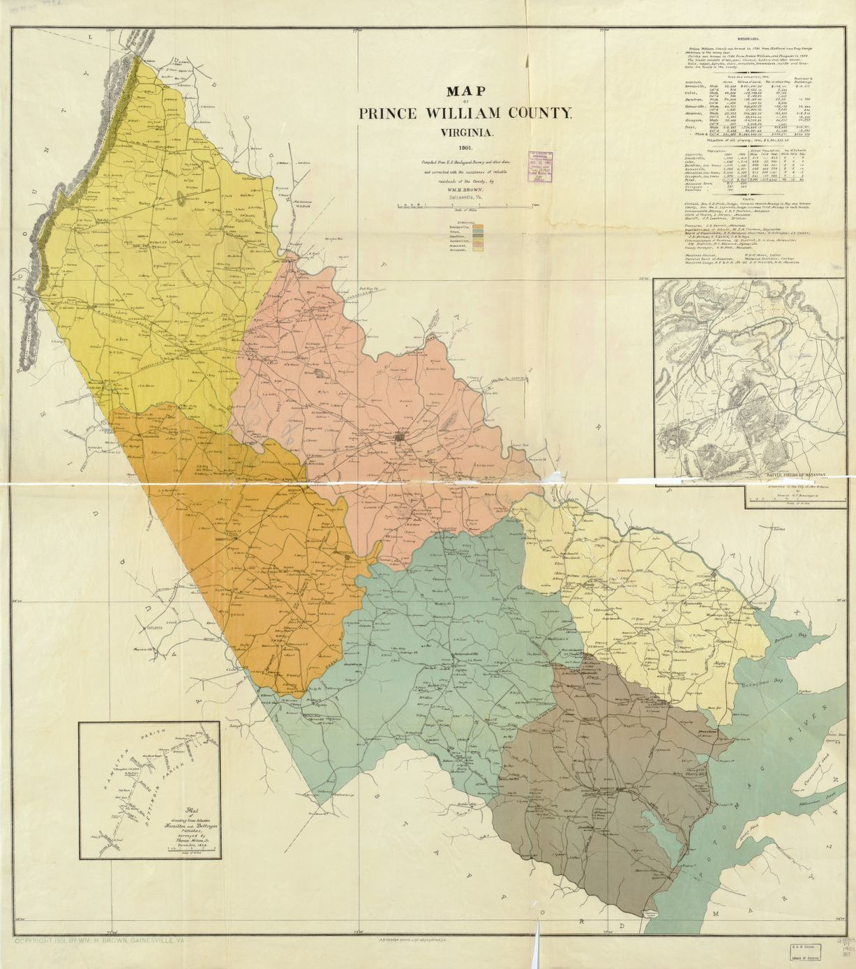 Map of Prince William County, Virginia : compiled from U.S. ...