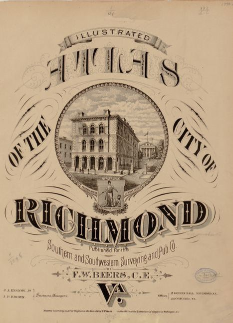 City Of Richmond Va >> Image 1 Of Illustrated Atlas Of The City Of Richmond Va