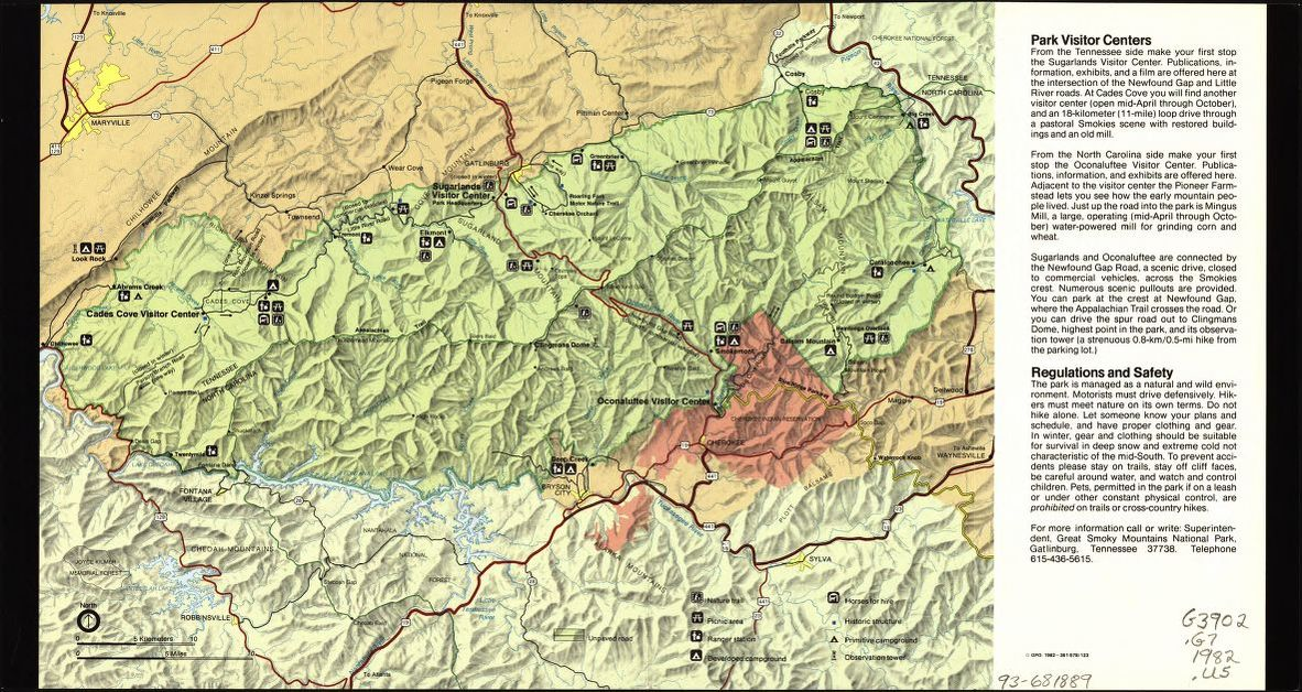 Mapping the National Parks, Great Smoky Mountains National Park ...