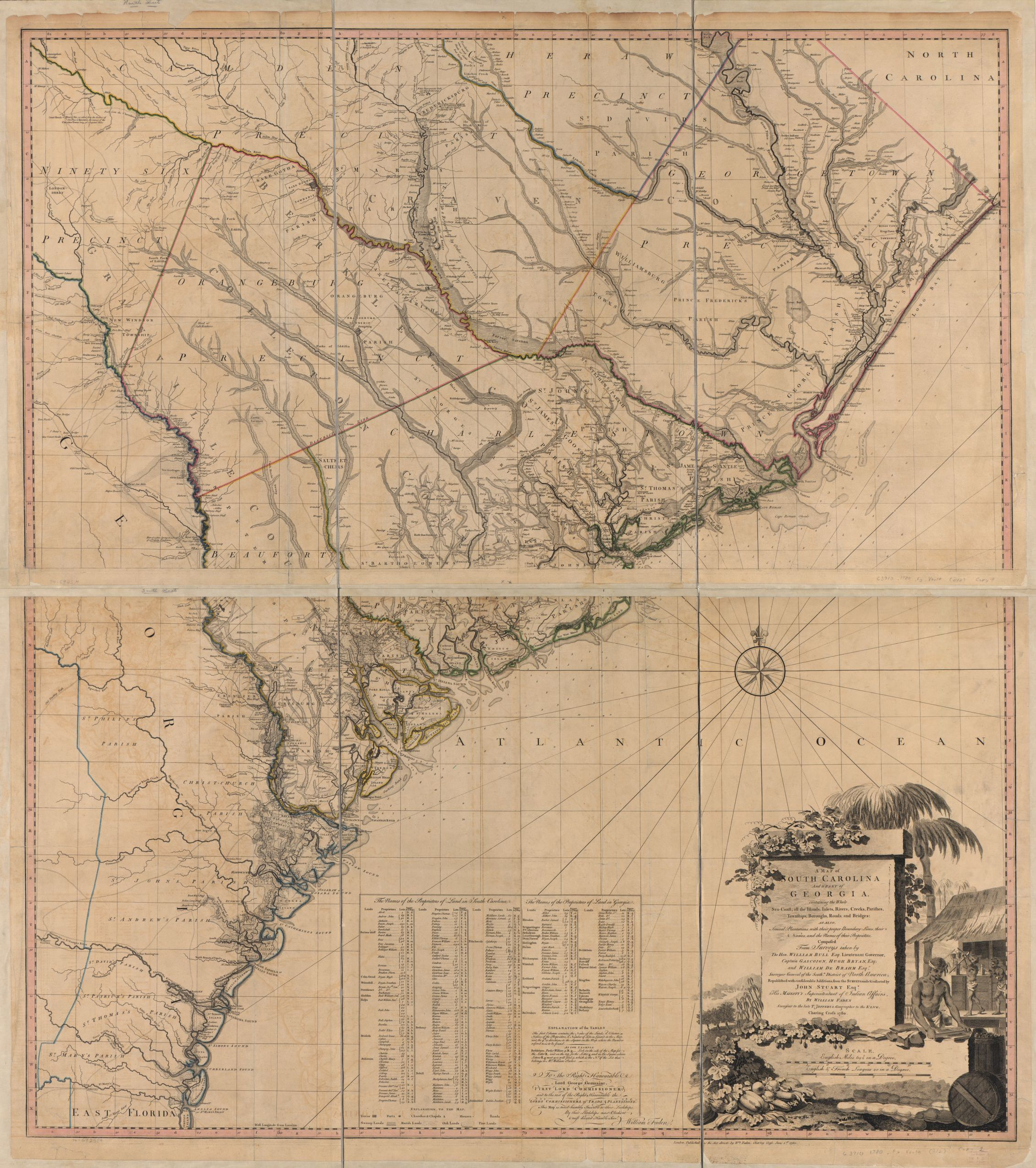 A map of South Carolina and a part of Georgia. Containing ...