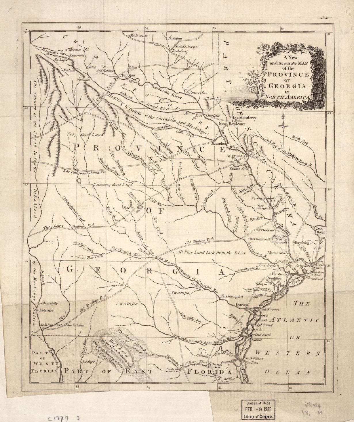 A new and accurate map of the province of Georgia in North America ...