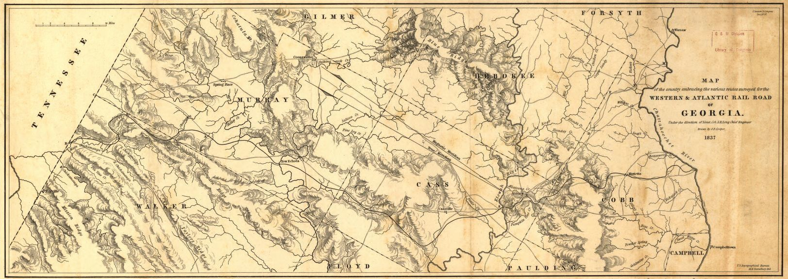 Railroad Maps 1828 To 1900 Georgia Library Of Congress