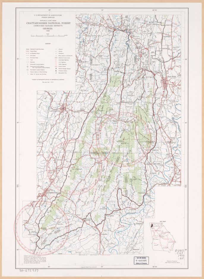 Chattahoochee National Forest Map on