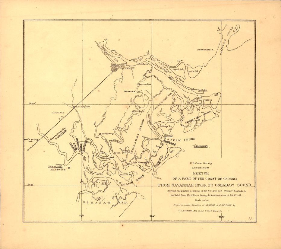 Sketch Of A Part Of The Coast Of Georgia From Savannah River To
