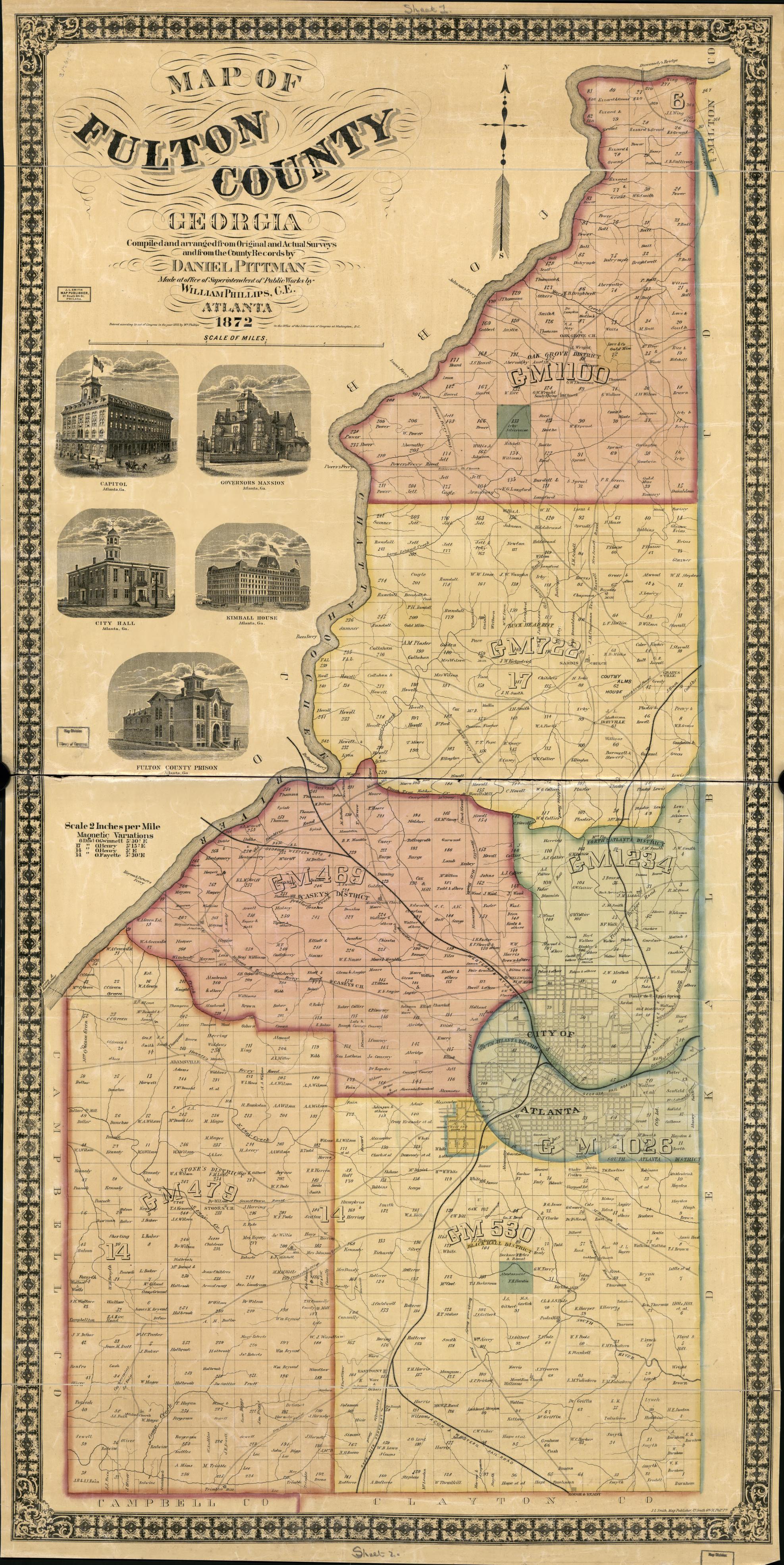 Map, Georgia | Library of Congress