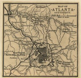Map Of Georgia 1865.Civil War Maps Available Online Atlanta Campaign Library Of Congress