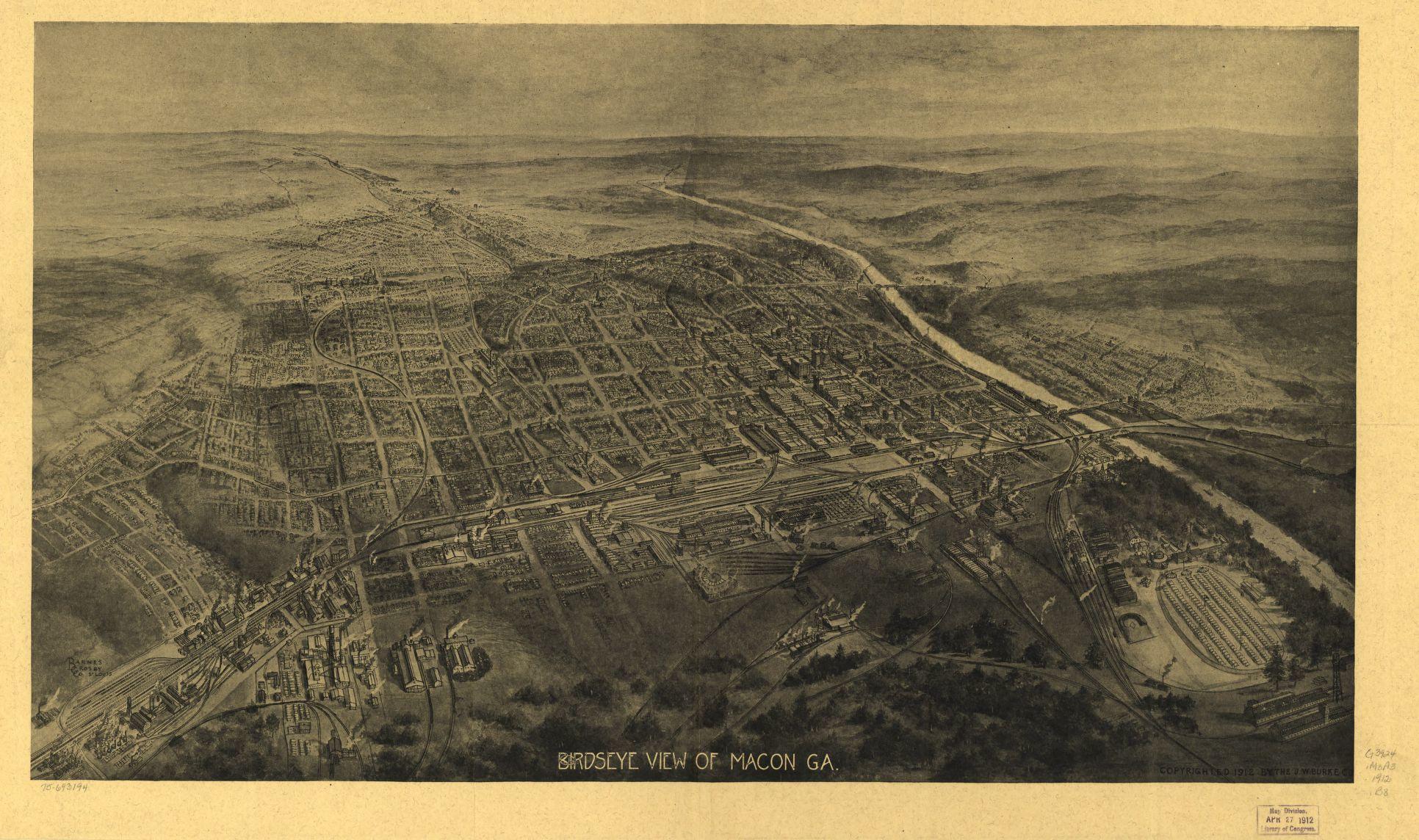 Map Of Quitman Ga.Panoramic Maps Available Online Georgia Aerial Views Library Of