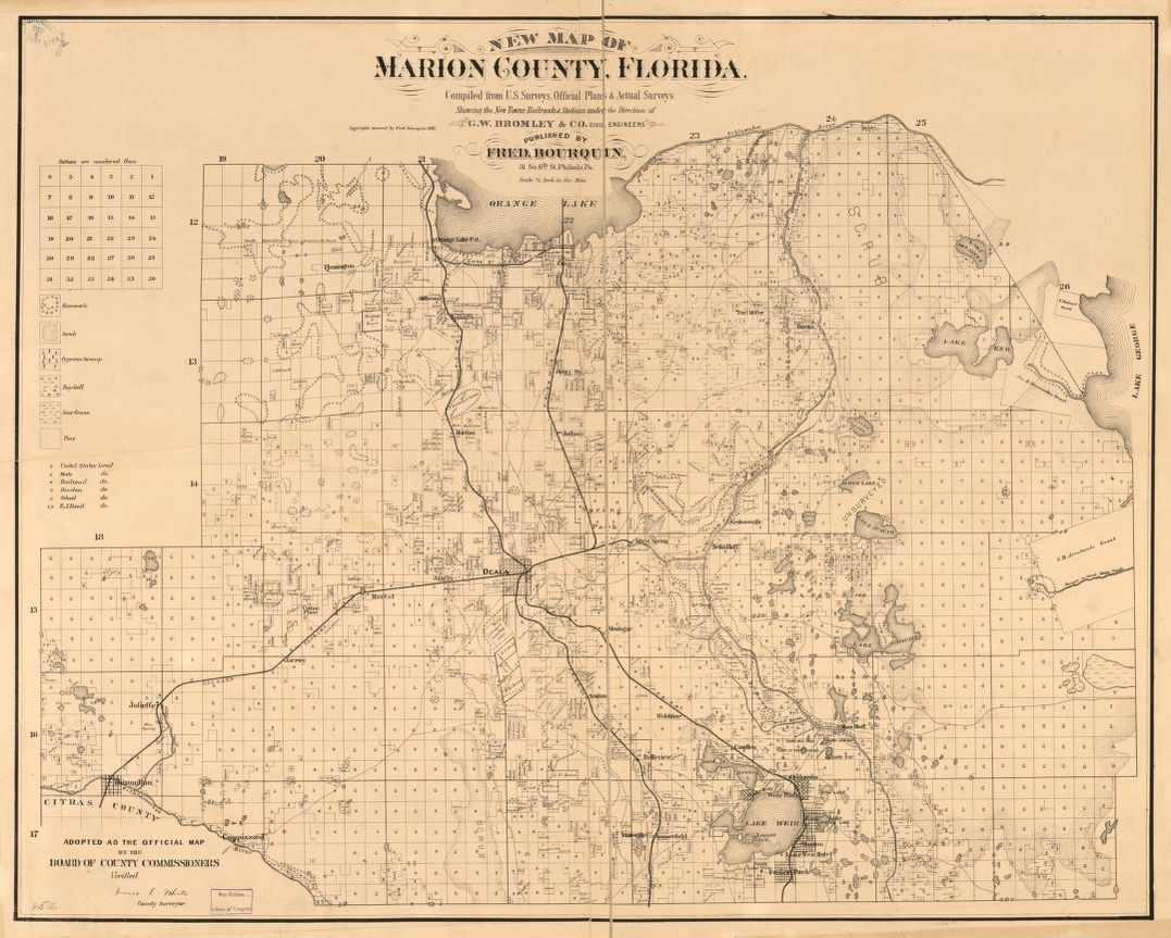 Marion County Florida Map.New Map Of Marion County Florida Library Of Congress