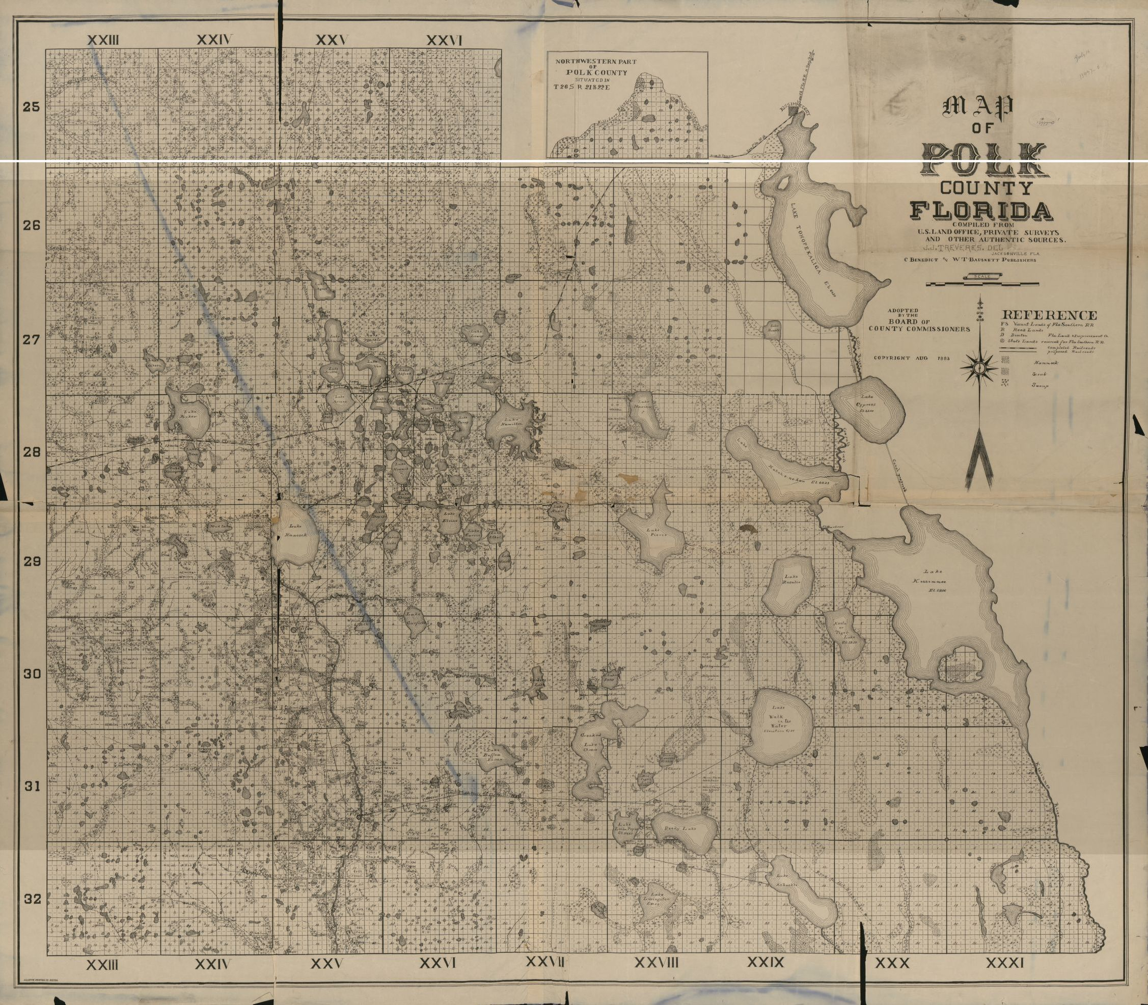 Map Of Polk County Florida Copy 1 Library Of Congress