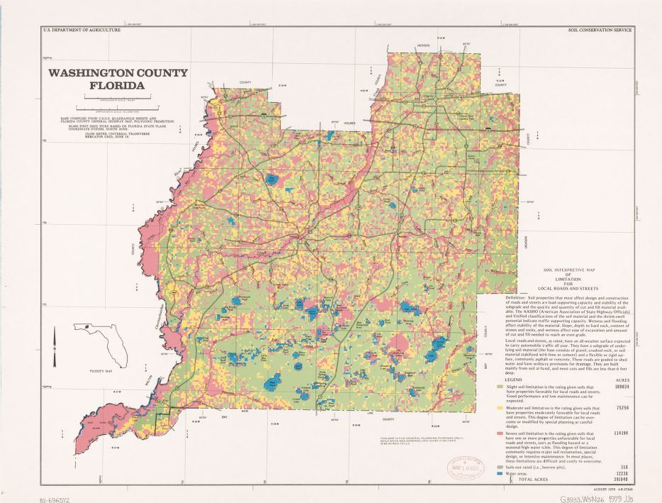County Map Of Florida With Roads.Map Florida Roads Library Of Congress