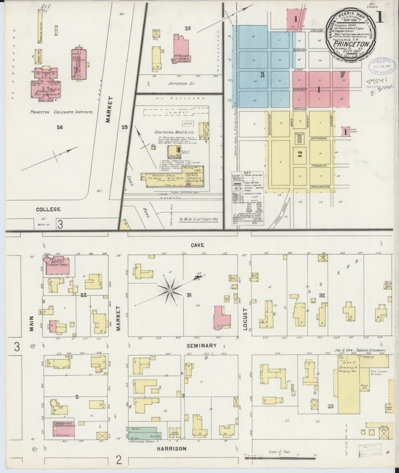 Sanborn Fire Insurance Map from Princeton, Caldwell County, Kentucky ...