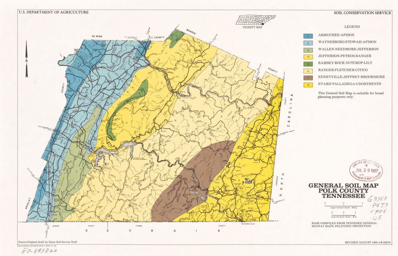 General soil map, Polk County, Tennessee | Library of Congress