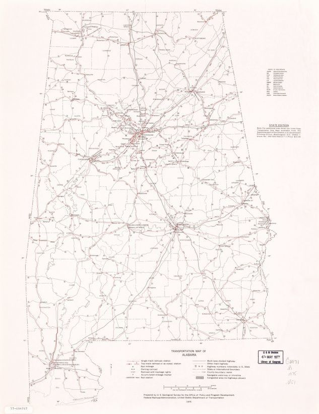 Map Alabama