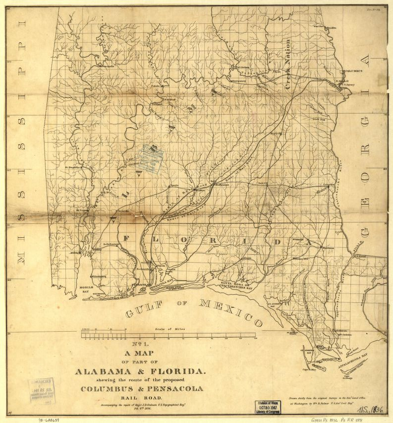 Florida Railroad Map.Railroad Maps 1828 To 1900 Library Of Congress