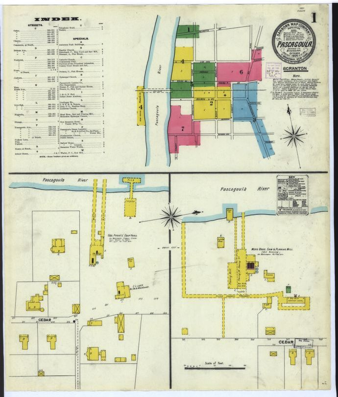 Sanborn Maps, 1900/1999, Mississippi | Library of Congress