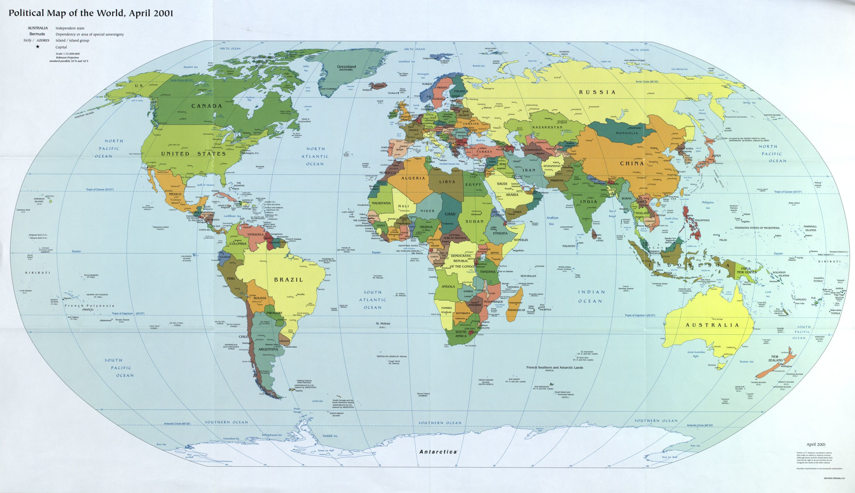 General Maps, World Maps, United States. Central Intelligence Agency ...