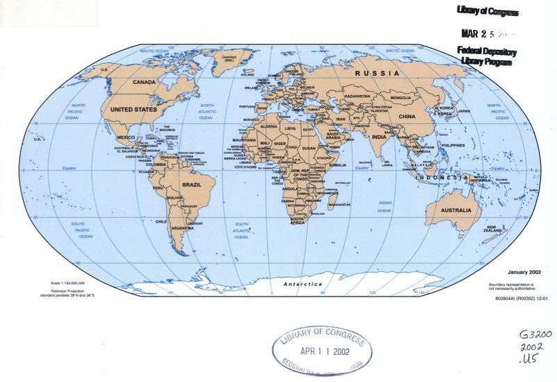 General Maps World Maps United States Central Intelligence Agency - Full-map-of-us