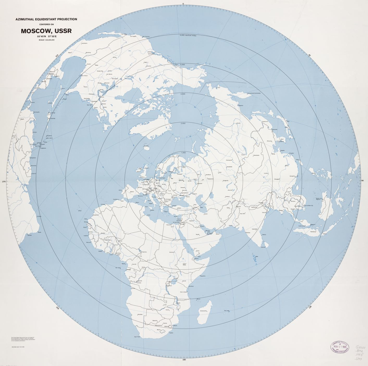 Azimuthal equidistant projection centered on moscow ussr 5545n azimuthal equidistant projection centered on moscow ussr 5545n 3735e scale 132000000 library of congress gumiabroncs Images