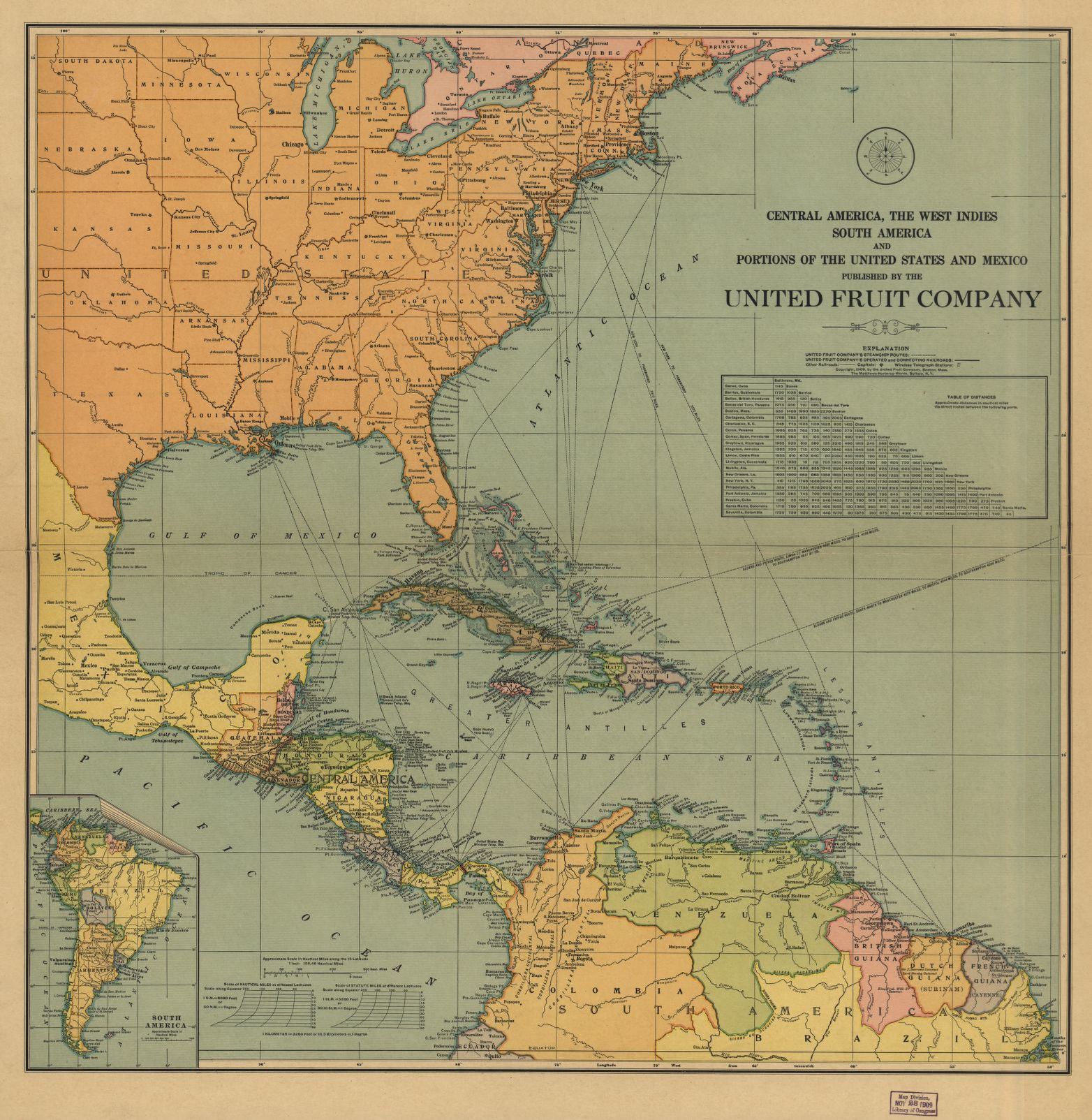 Central America, the West Indies South America and portions ...