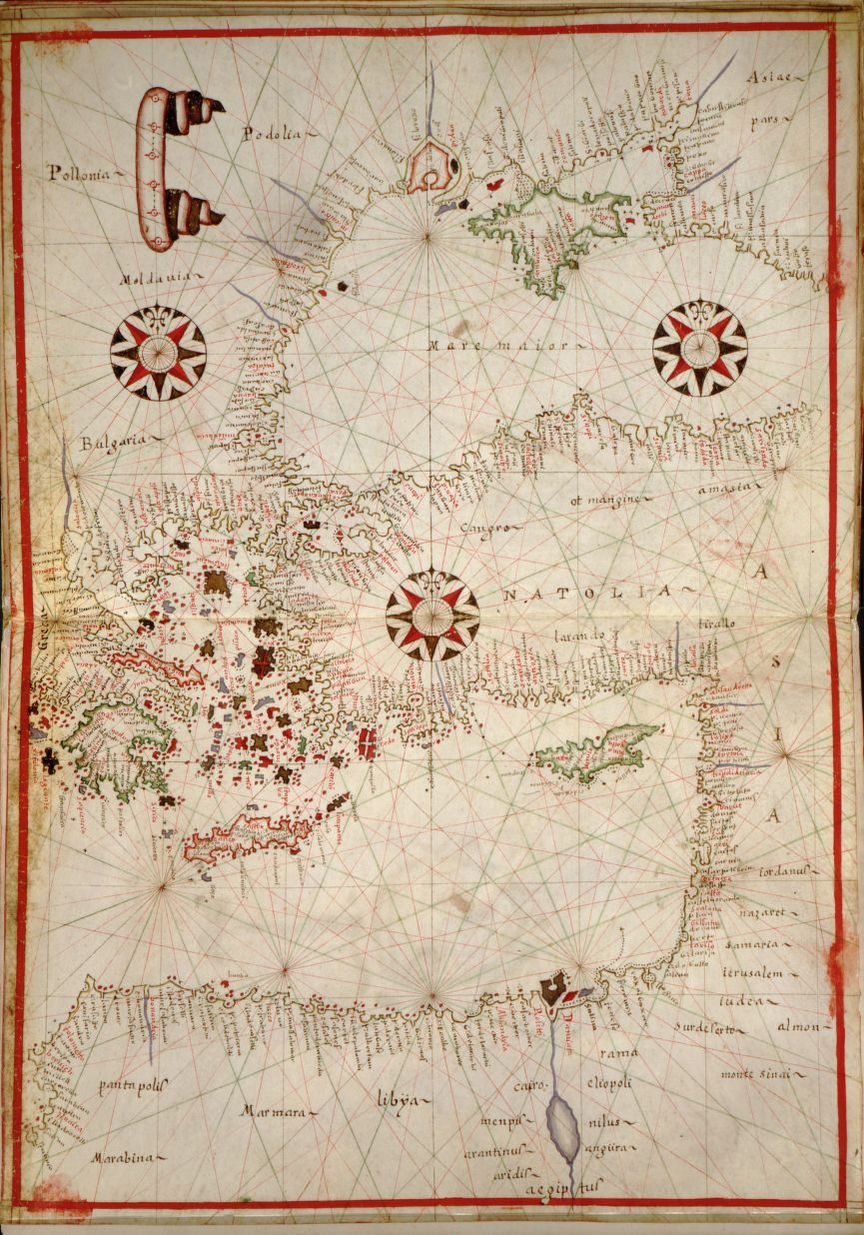 Portolan Atlas Of The Mediterranean Sea Western Europe And The Northwest Coast Of Africa Library Of Congress