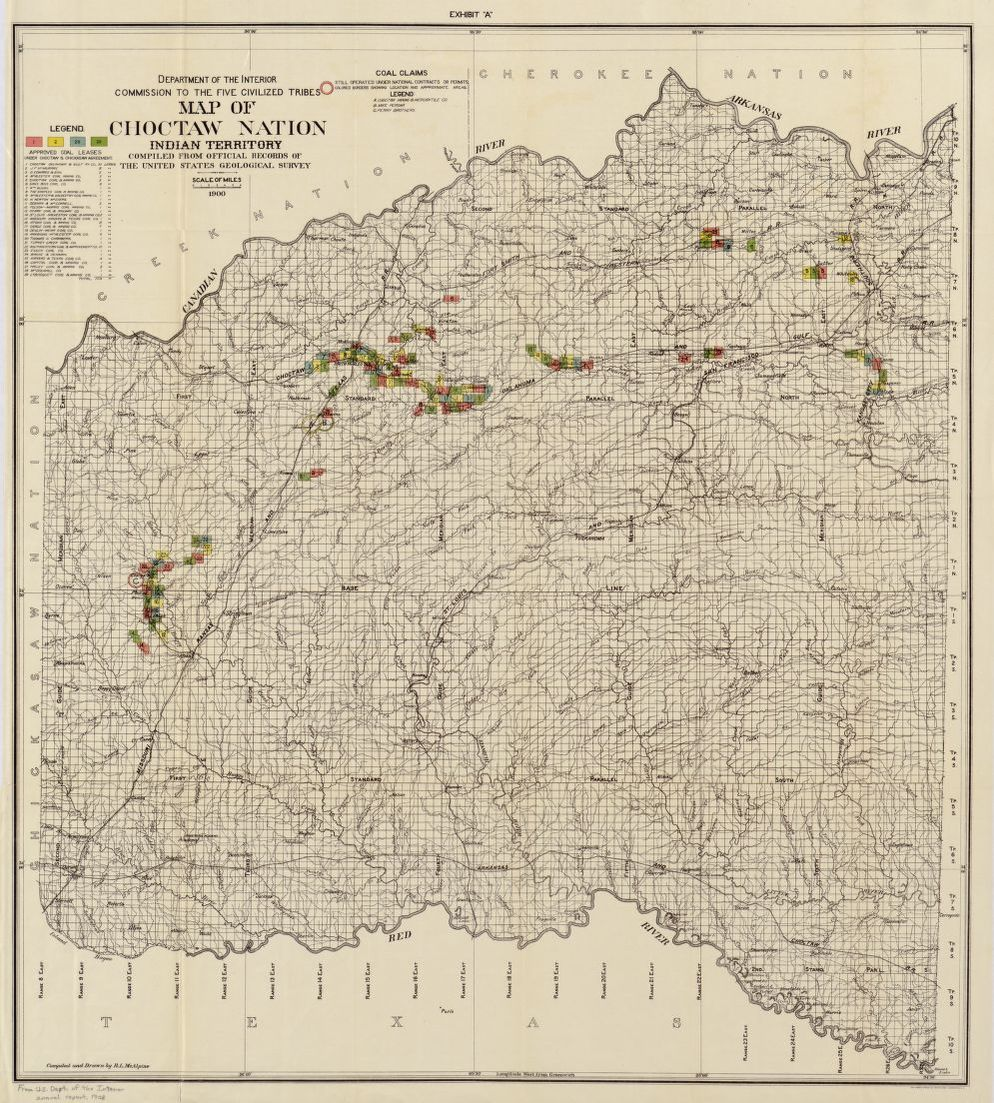 Map of Choctaw Nation, Indian territory : compiled from