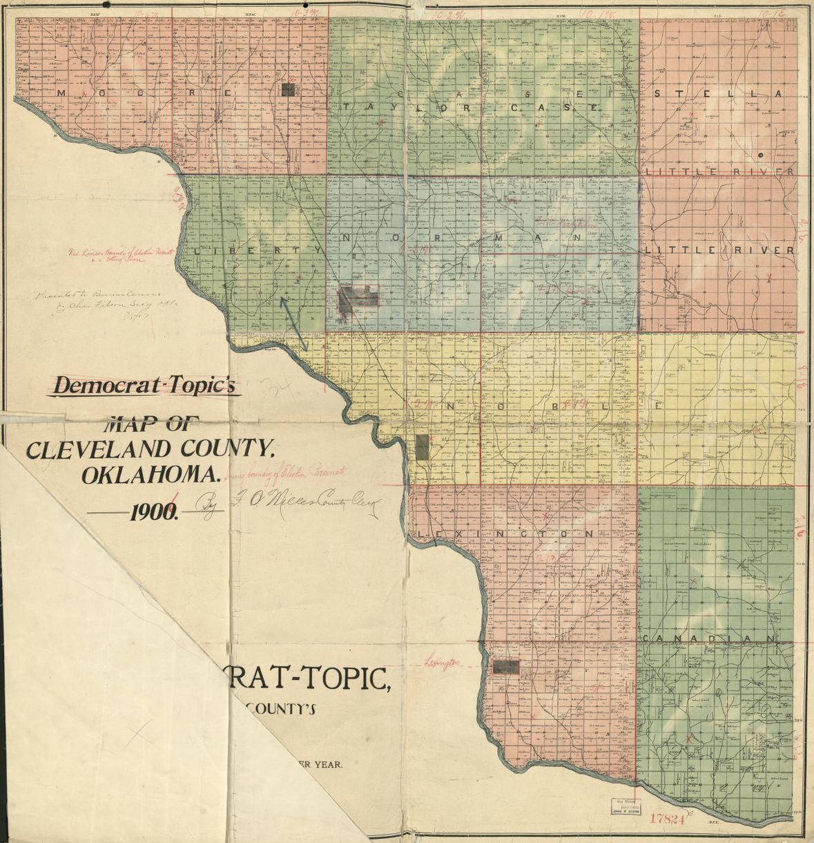 Leflore County Oklahoma Map.Map 1900 To 1999 Oklahoma Maps Library Of Congress