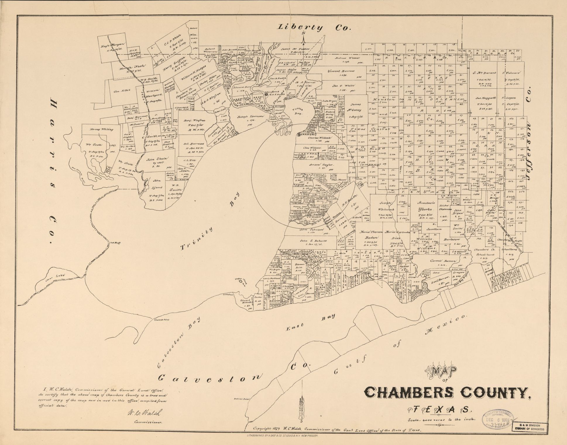 Chambers County Texas Map Map of Chambers County, Texas. | Library of Congress