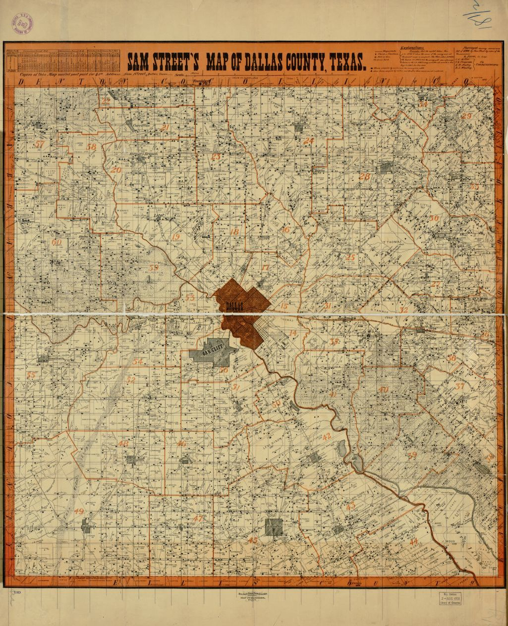 Map, 1900/1999, Landowners | Library of Congress