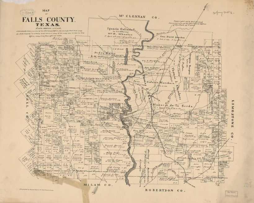 Map Of Texas In 1800.Map Available Online 1800 1899 Real Property Library Of Congress