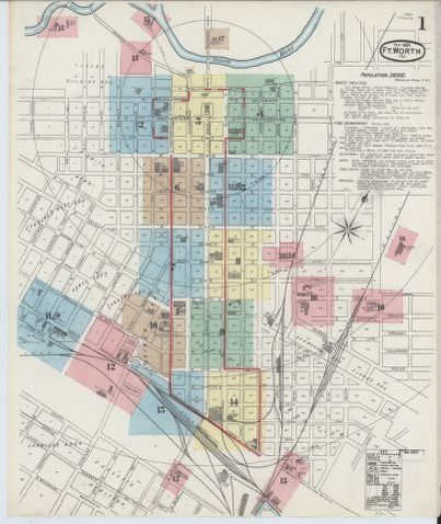 Sanborn Fire Insurance Map From Fort Worth Tarrant County