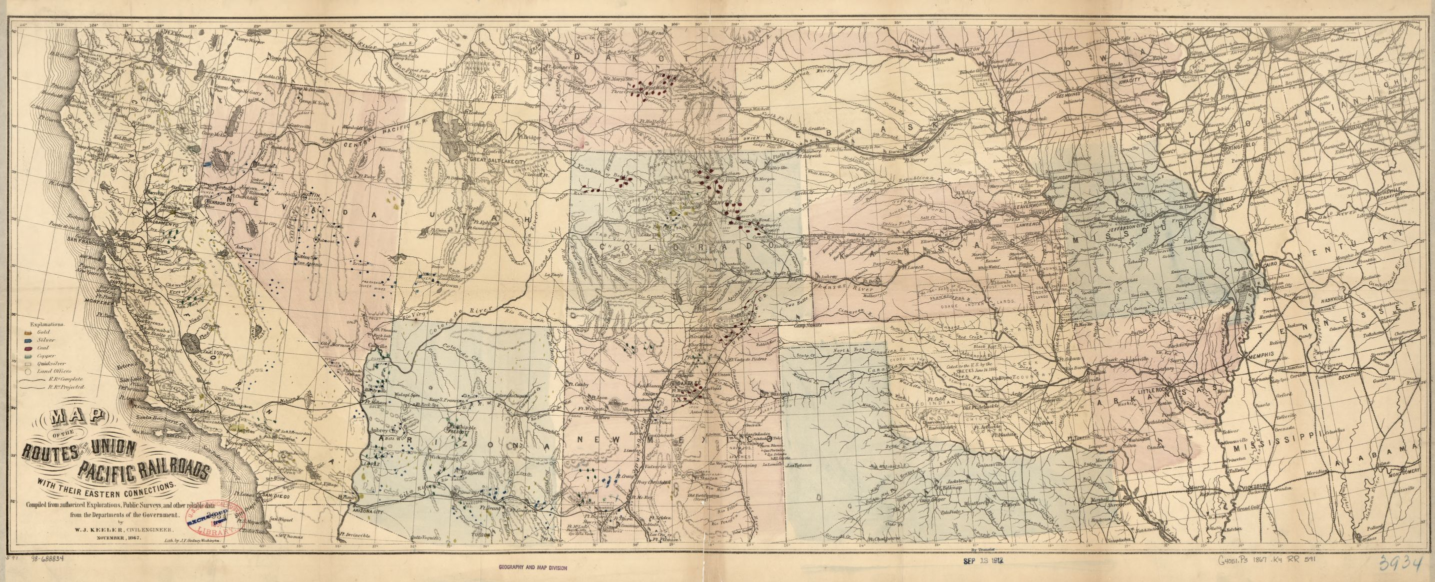 Railroad Maps, 1828 to 1900, Union Pacific Railroad Company ...