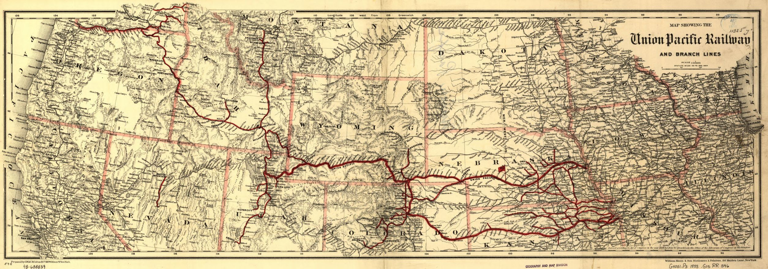 Railroad Maps, 1828 to 1900, West (U.S.) | Library of Congress
