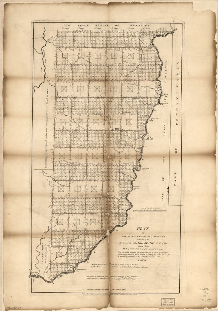 Plat of the seven ranges of townships being part of the