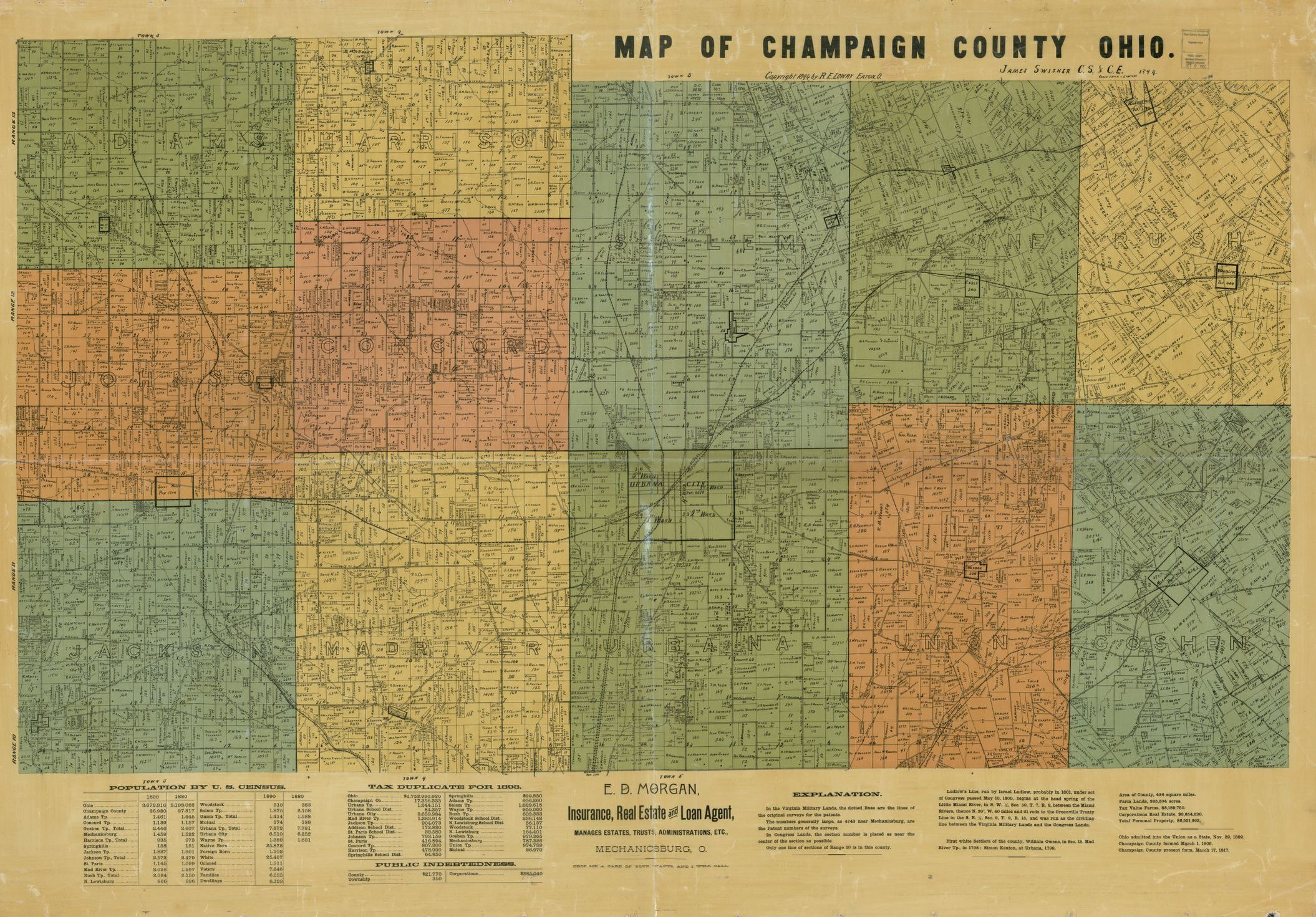Map of Champaign County, Ohio - Copy 1 | Liry of Congress Champaign County Ohio Map on