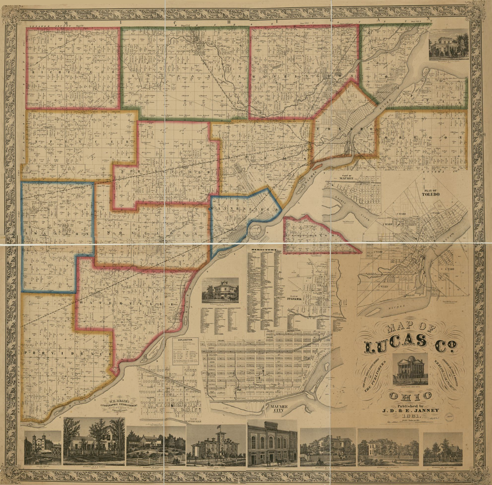 Lucas Ohio Map.Map Of Lucas Co Ohio Library Of Congress