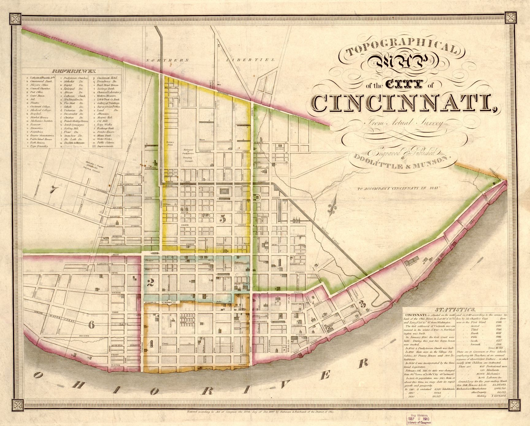 Topographical Map Of The City Of Cincinnati From Actual Survey
