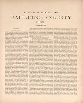 Brief History Of Paulding County Ohio Library Of Congress