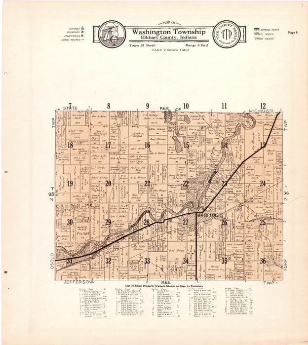 Map Atlas and plat book of Elkhart County Indiana compiled from