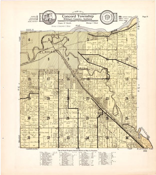 Map of Concord Township Elkhart County Indiana Library of Congress