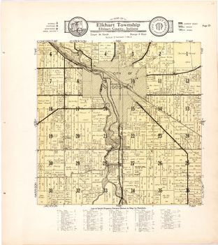 Map of Elkhart Township Elkhart County Indiana Library of Congress