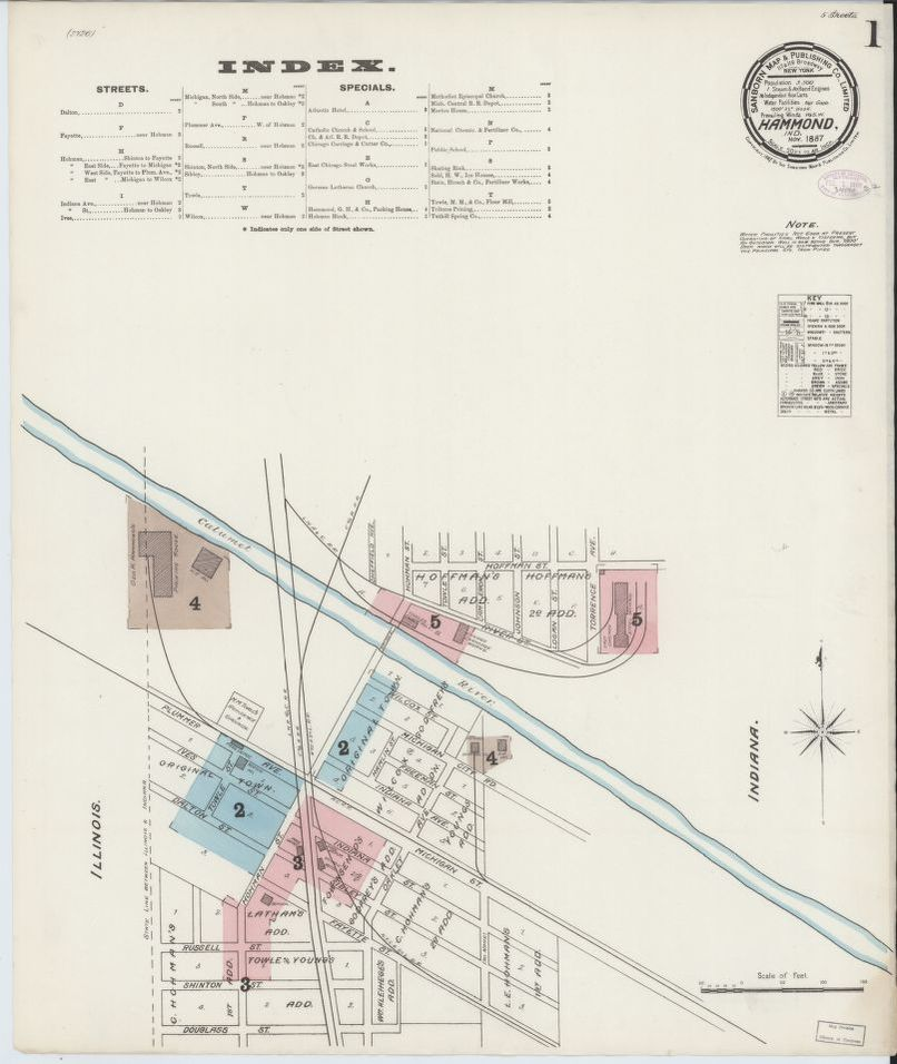 Sanborn Fire Insurance Map From Hammond Lake County Indiana