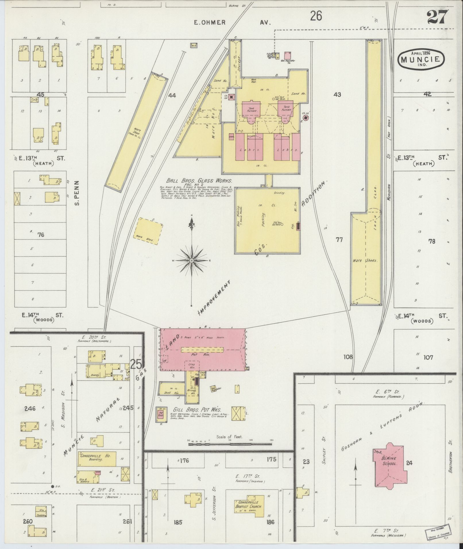 Map Sanborn Fire Insurance From Muncie Delaware County Glock 23 Diagram Indiana G4094mmg4094mm G024331896 Library Of Congress