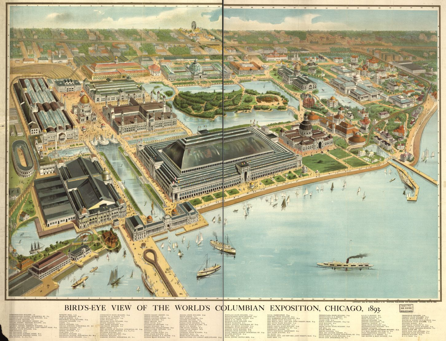 Bird\'s eye view of the World\'s Columbian Exposition, Chicago, 1893 ...