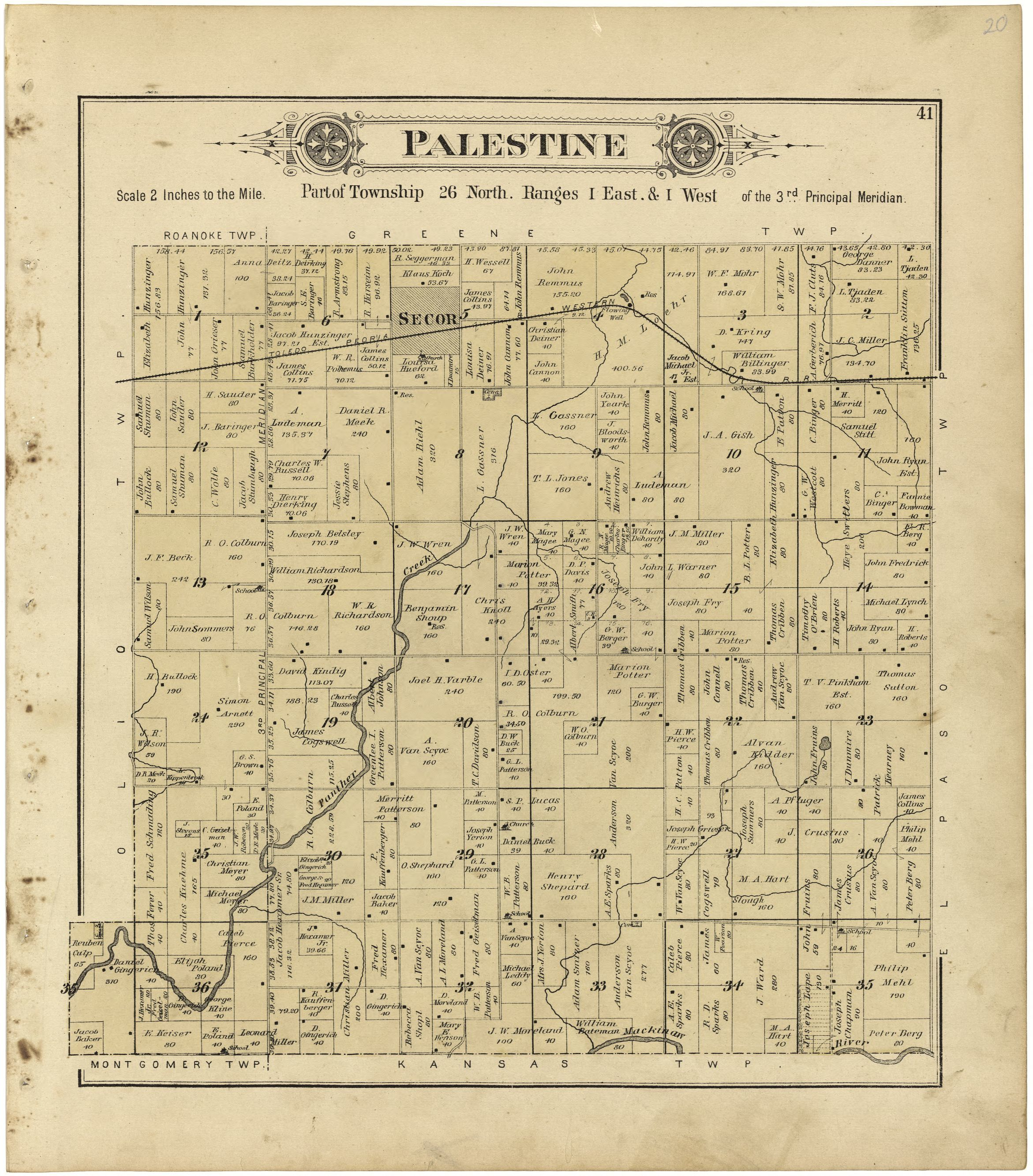 Illinois woodford county secor - Map Plat Book Of Woodford County Illinois G4103wm Gla00150 Library Of Congress