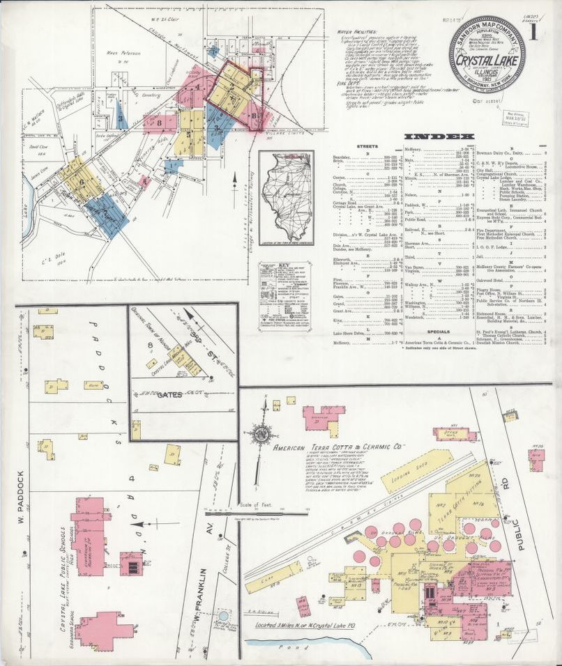 Crystal Lake Illinois Map.Sanborn Fire Insurance Map From Crystal Lake Mchenry County